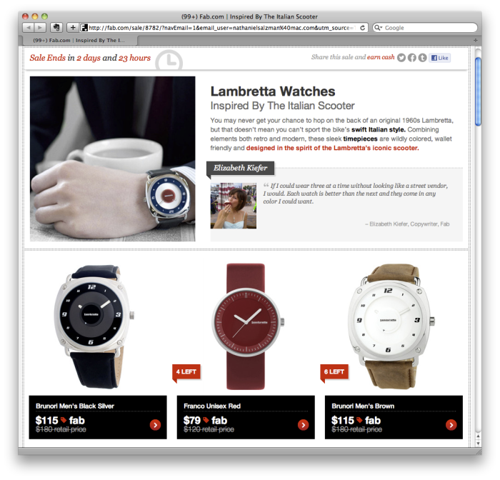 Lambretta watches back on sale at Fab.com