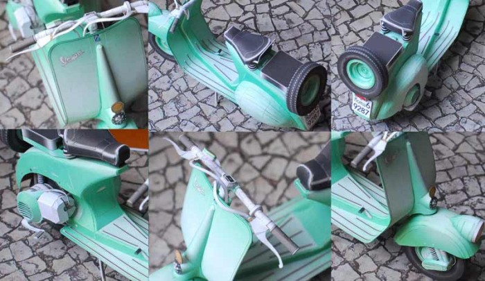 Vespa papercraft engine