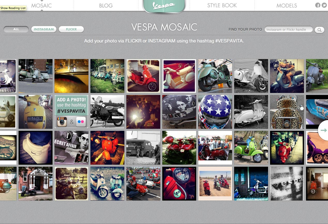 Vespa Sharing Site