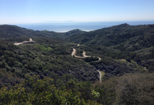 Some of the coastal canyon roads where we tested the BMW C-series scooters' handling.