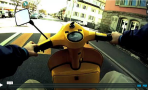 Yellow Vespa POV Video Timelapse