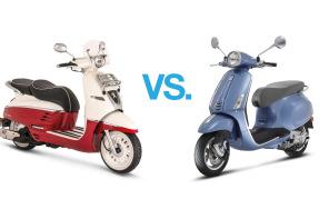 Comparison: Vespa Primavera 125 vs. Peugeot Django 125